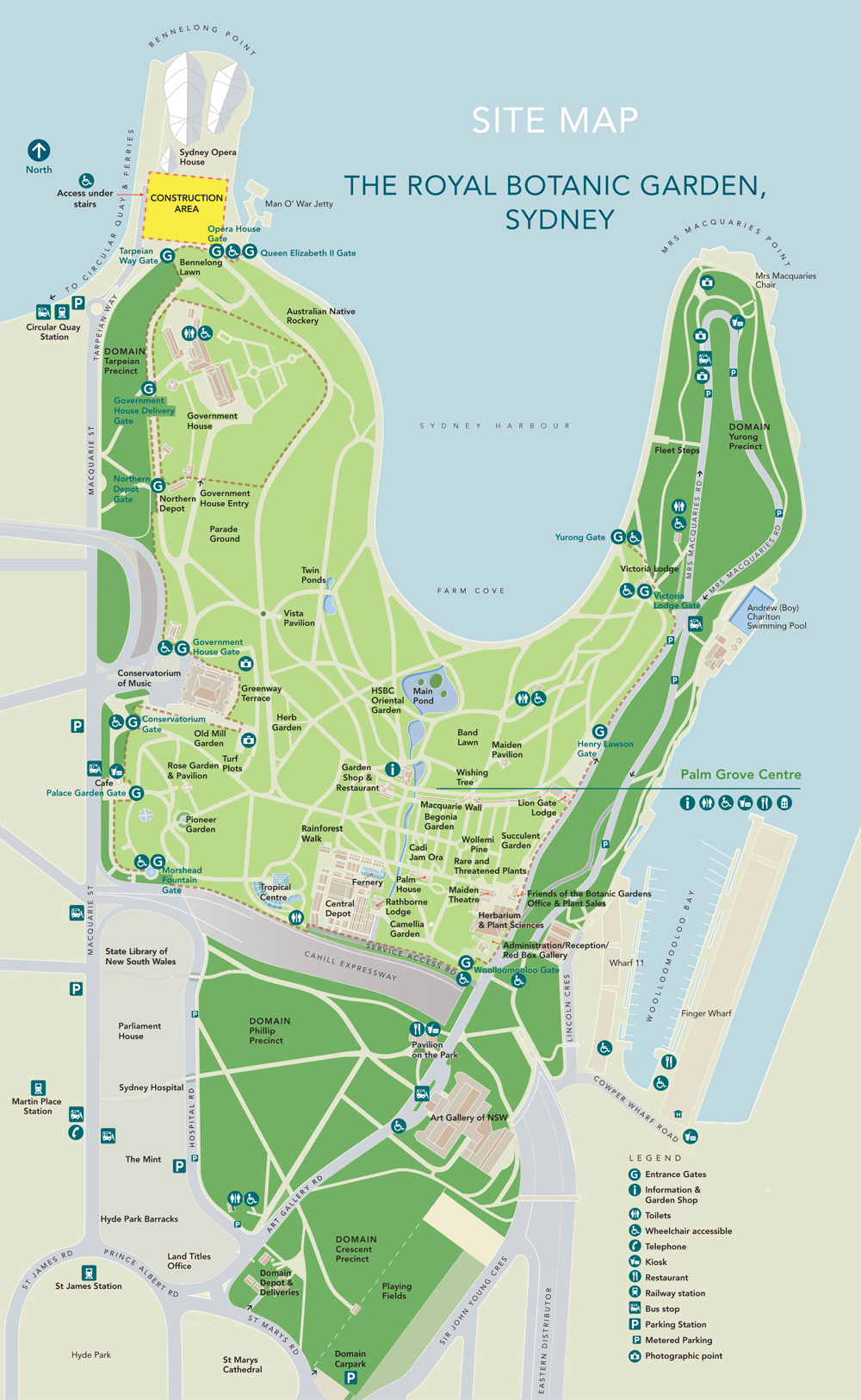 Image Result For Sydney Botanical Gardens Map